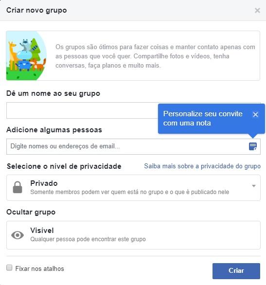 Passo a passo de como criar um Grupo Do Facebook